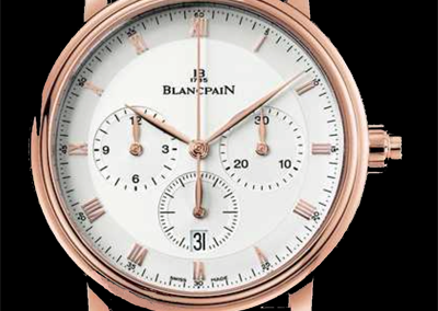 Blancpain Villeret chronographe monopoussoir or rose