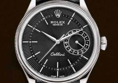 Rolex Cellini 39 mm date or blanc