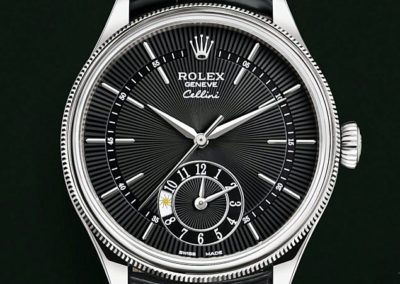 Rolex Cellini 39 mm dual time or blanc