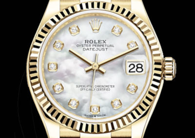 Rolex Datejust 31mm or jaune cadran nacre 10 diamants